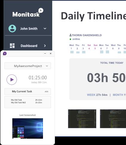 Monitask interface screenshot