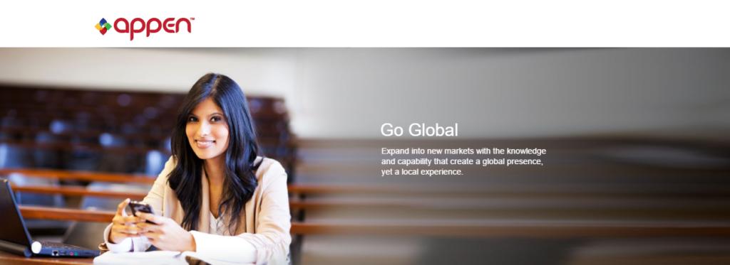 Appen site screenshot